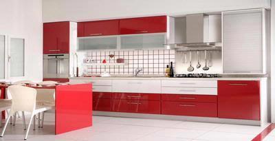 Coba Ini Sensasi Dapur Kontemporer Merah Putih